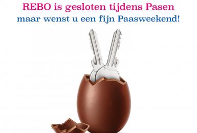REBO is gesloten met Pasen maar wenst u een fijn Paasweekend!